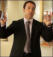 Jeremy Piven plays talent Agent Ari Gold in HBO's Entourage